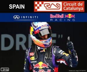 Daniel Ricciardo - Red Bull - Grand Prix von Spanien 2014, 3. klassifiziert puzzle