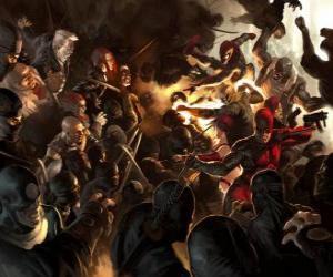 Daredevil, Der Mann ohne Furcht ist ein blinder Superheld, der die anderen Sinne überentwickelten hat und einen sechsten Sinn, der Echoortung puzzle