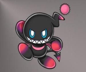 Dark Chao ist der böse Maskottchen Sonic-Spiele puzzle