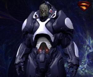 Darkseid, Tyrann von einer fernen Welt der Apokolips genannte kosmische Götter. puzzle