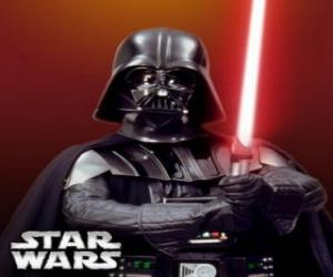 Darth Vader mit seinem lichtschwert puzzle