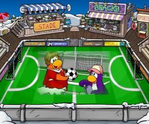 Das Fußballspiel Club Penguin puzzle