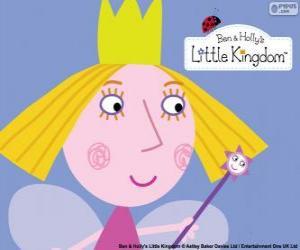 Das Gesicht der kleinen Fee, Prinzessin Holly mit ihrer Krone puzzle