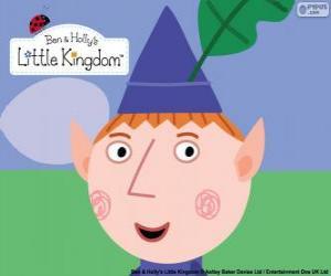 Das Gesicht von der Ben Elf und seinen dreieckigen Hut mit dem Eichenblatt puzzle