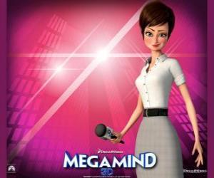 Das schöne Reporterin Roxanne Ritchi aus, wer in der Liebe Megamind puzzle