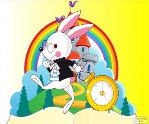 Das Weißes Kaninchen immer in Eile puzzle