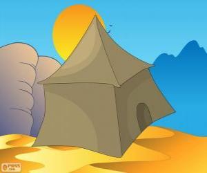 Das Zelt von den Beduinen in der Wüste, Khayma puzzle