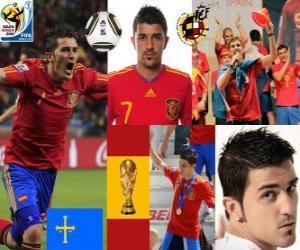 David Villa (Spanien hat sich zum Ziel) Spanish National Team nach vorne puzzle