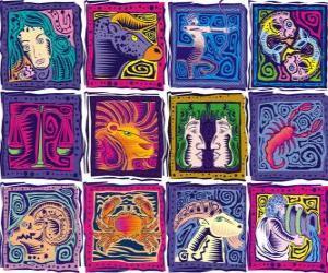 DDie zwölf Zeichen des Tierkreises puzzle