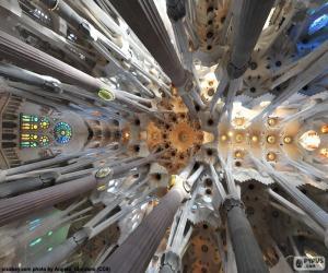 Decke, Sagrada Familia, Barcelona puzzle