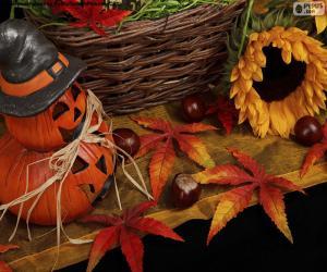 Dekoration für Halloween puzzle