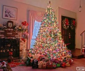Dekorierte Weihnachten Tanne puzzle