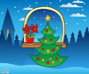 Dekorierten Weihnachtsbaum puzzle