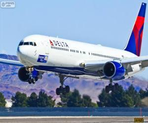 Delta Air Lines, US-amerikanische Fluggesellschaft puzzle