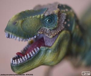 Den Kopf eines Dinosauriers puzzle
