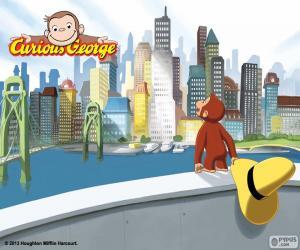 Der Affe Coco und der Stadt puzzle