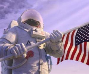 Der Astronaut Chuck Baker Schritte auf Planet 51 Denken ist es unbewohnt puzzle