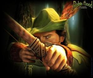 Der berühmte Bogenschützen Robin Hood puzzle