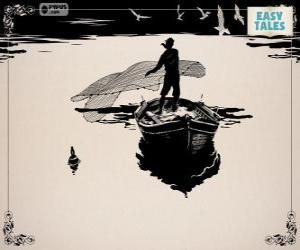 Der Fischer mit seinem alten Boot Angeln puzzle