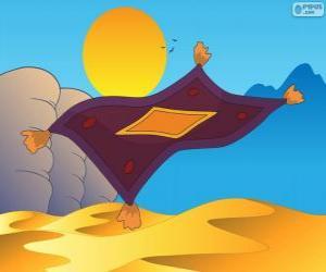 Der fliegende Teppich. Die Aladdin-Zauberteppich puzzle