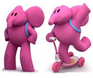 Der freundliche Elefant ist das stärkste Elly und hilft immer seine Freunde puzzle