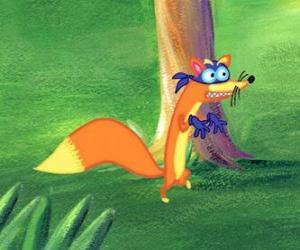 Der Fuchs Swiper versucht immer, etwas zu stehlen, Dora puzzle
