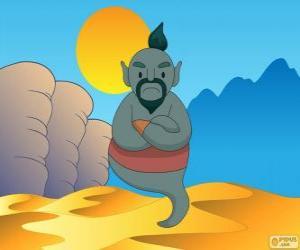 Der Geist der Lampe die hilft Aladdin puzzle