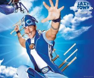 Der Held von LazyTown, Sportacus, der gesunde Sportler puzzle