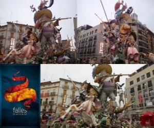 - Der Jäger gejagt - Gewinner der Fallas 2011. Die Fallas-Fest ist von 15 bis 19 März in Valencia, Spanien gefeiert. puzzle