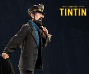 Der Kapitän Archibald Haddock ist Tims bester Freund puzzle