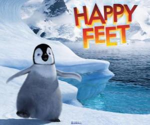 Der kleine Kaiserpinguin, Protagonist von Happy Feet puzzle
