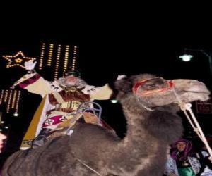Der König Melchior reitend auf seinem Kamel puzzle