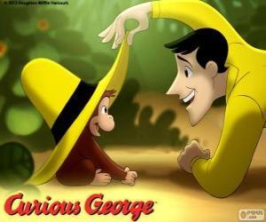Der neugierige Affe Coco und Ted, der Mann in der gelben Mütze puzzle