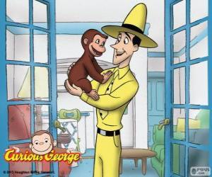 Der neugierige Affe Coco und Ted puzzle