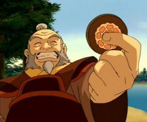 Der pensionierte General Iroh, als der Drache des Westens bekannt ist Zuko Onkel und Mentor puzzle