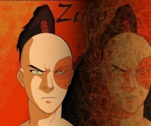 Der Prinz Zuko ist der Feuer-Nation im Exil und möchte den Avatar Aang erfassen, um seine Ehre wiederherzustellen puzzle