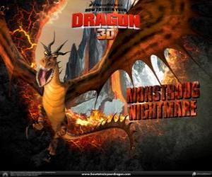 Der riesige Drachen Riesenhafter Alptraum kann jeder Tages-und Nachtzeit Angriff aus der Luft oder den Boden puzzle