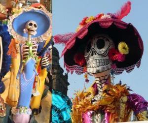 Der Schädel Catrina, einer der beliebtesten Day of the Dead in Mexiko puzzle