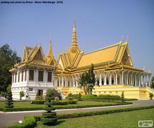 Der Thronsaal, Kambodscha puzzle