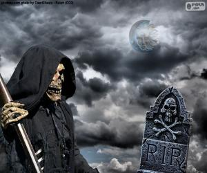 Der Tod, Halloween puzzle