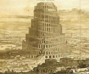 Der Turm von Babel, in denen männer versucht, den himmel puzzle