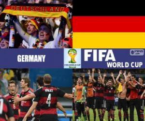 Deutschland feiert seine Einstufung, Brasilien 2014 puzzle