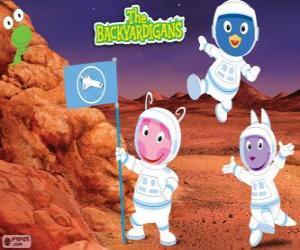 Die Backyardigans Astronauten haben am Mars angekommen puzzle