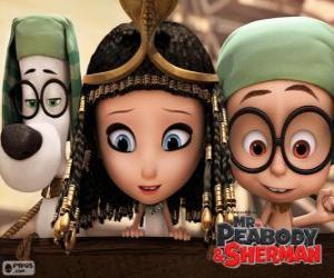 Die drei Protagonisten des Films Mr. Peabody und Sherman puzzle