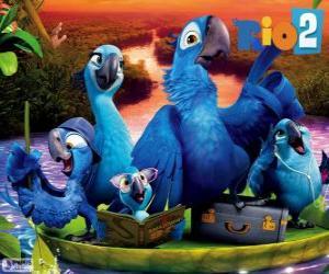 Die Familie von Blu im Amazonas puzzle
