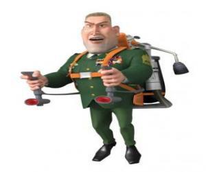 Die General W. R. Monger tun das militär begrüssen puzzle