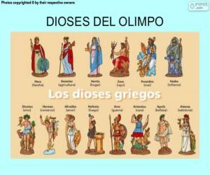 Die griechischen Götter puzzle