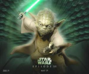 Die großen meister Yoda, ein Jedi meister puzzle