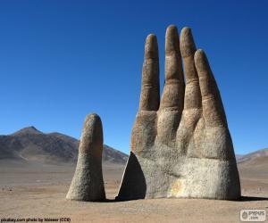 Die Hand der Wüste, Chile puzzle