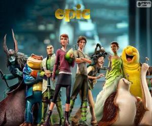 Die Hauptfiguren des Films Epic. Verborgenes Königreich puzzle
